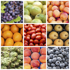 Fruit and vegetables collage