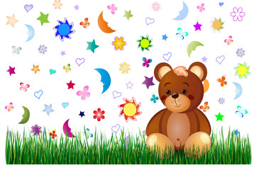Children toy background