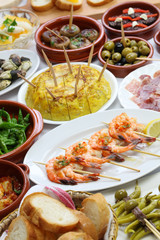 spanish tapas bar food variety