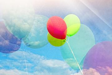 Fototapeta Kolorowe balony w stylu retro obraz
