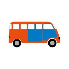 Minibus figure for infographics