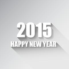 Modern simple Happy new year card (2015)