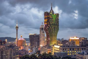 Macau, China City Skyline