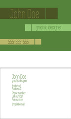 Simple editable pastel green business card template