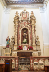 Old altar inside an old catholic church