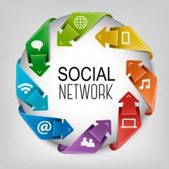 Business social network concept. Vector.