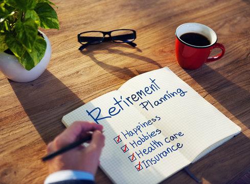 Businessman Brainstorming About Retirement Planning