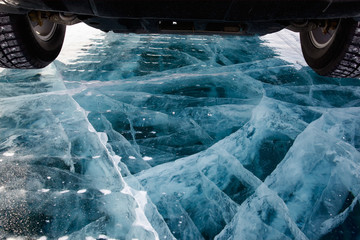 Car on ice