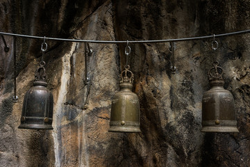old bell in cave