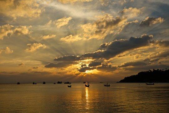 Sunset on the Samui island
