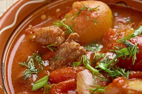Мясо по гречески рецепт с фото