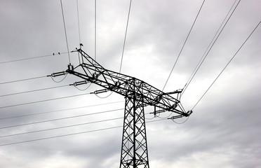 Black High Voltage Line