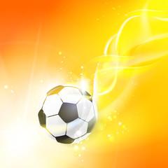 Shining soccer-ball.