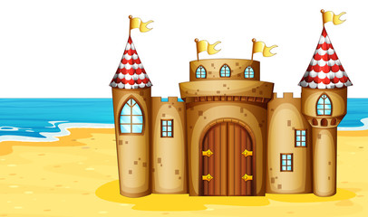 Castle on beach
