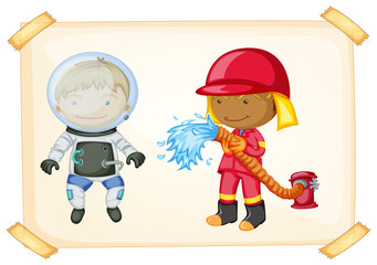 Astronaut and firefighter