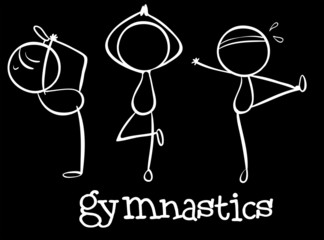 Three gymnasts