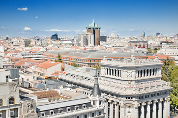 Madrid cityscape scenic view, Madrid, Spain.