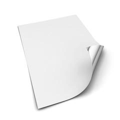 Sheet of a4 paper