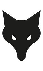 Fuchs Kopf Frontal Böse