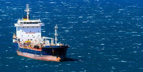 Vessel in a sea