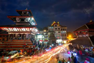 Durbar Sqaure in Kathmandu at night, Nepal