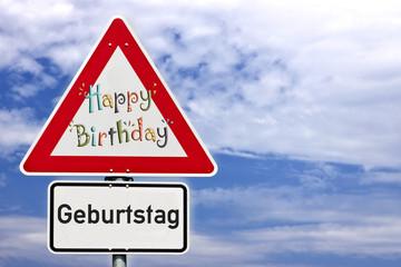 Schild Geburtstag
