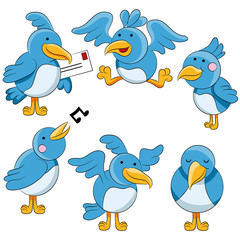 Cartoon Bluebirds