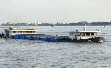 barge in Cambodia