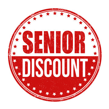 Senior discount stamp