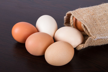 Organic Eggs with Sackcloth