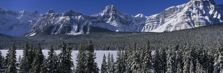 Rocky Mountains in winter, Canada