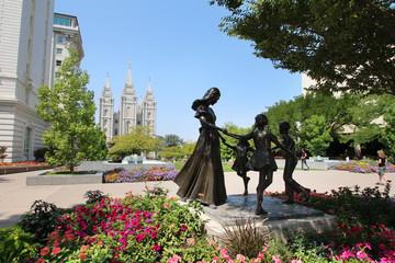 Mormon temple in Salt Lake City (Utah)  Wall mural