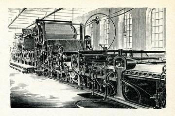 Papermaking machine 1876