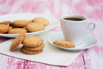 cookies and a cup of coffee