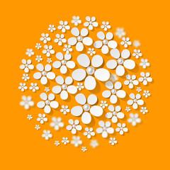 Blumen Ornaments Orange Eis Kuchen Torte