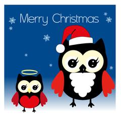 Weihnachts Eulen