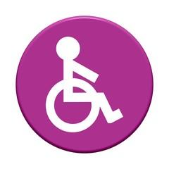 Button rund: Rollstuhl