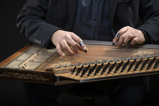 Qanun, a zither like instrument with seventy-eight strings