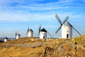 Acrylic Prints Mills Windmills in Consuegra.