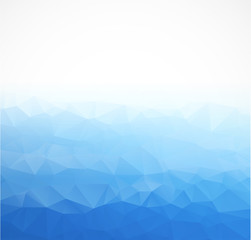 Abstract Triangle  Blue  Background