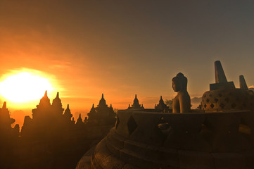Borobudur on sunrise