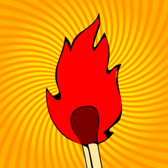 Fire flames, icons, vector illustration