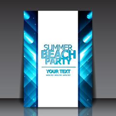 Design for Summer Party Flyer | EPS10 Vector Illustration