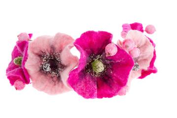 beautiful flower Malva souvenir made of wool