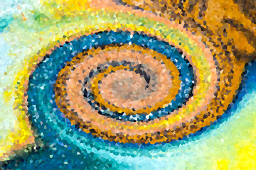 Colorful abstract spiral pattern