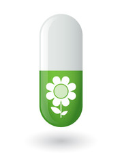 Pill with a flower