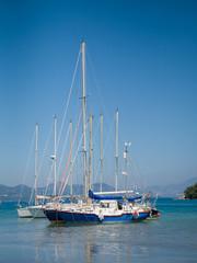 Harbor of Nidri on Lefkas island