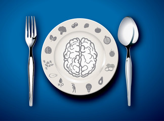 Vector illustrator of food for Brain