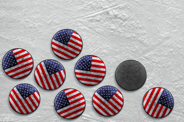 American hockey pucks