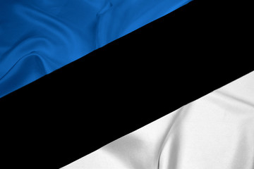 Waving Estonia Flag